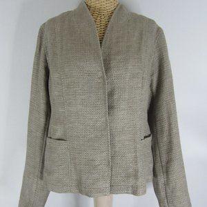 Eileen Fisher Small Taupe Organic Linen Blazer